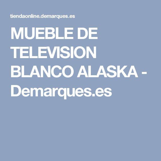 MUEBLE DE TELEVISION BLANCO ALASKA - Demarques.es