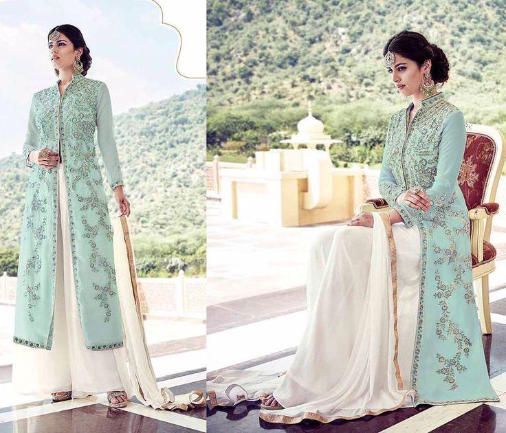 Wedding wear punjabi suit pakistani dress long four slit salwar kameez suits  #Handmade #salwarkameez