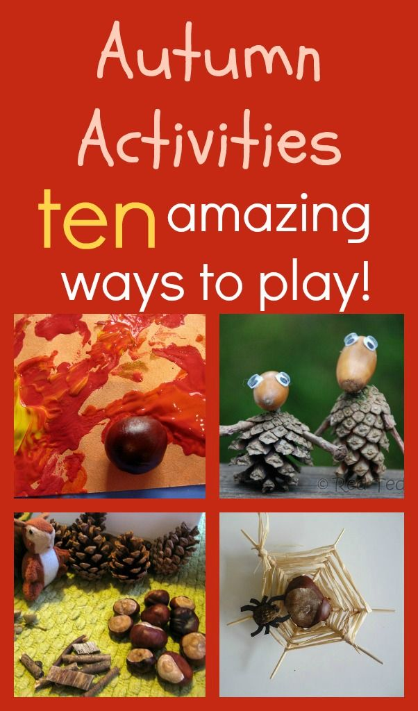 10 amazing ways to play with acorns and conkers!
