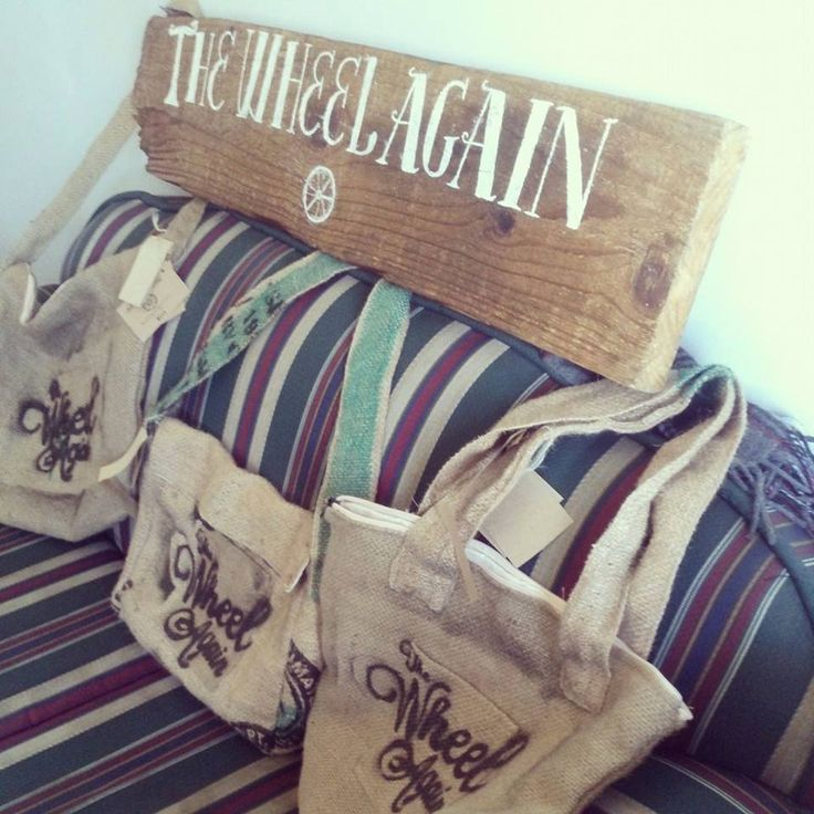 Special bags for our friends The Wheel Again...  They are a great band (www.thewheelagain.com/)