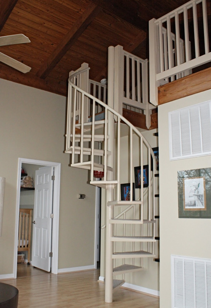 10 best loft stairs images on pinterest loft stairs for 4 foot spiral staircase
