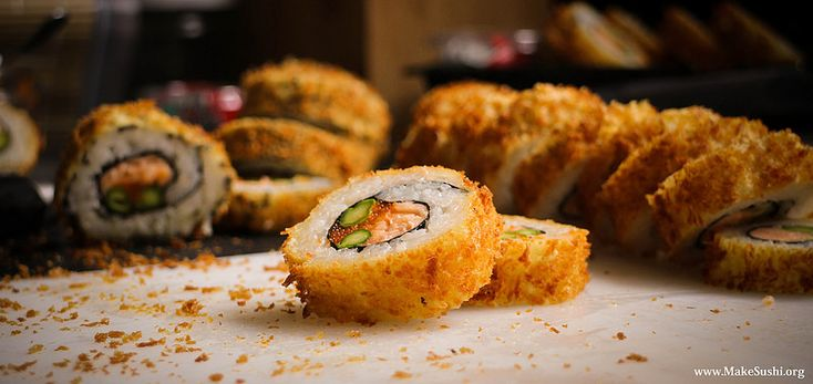 Crispy Deep Fried Sushi Roll