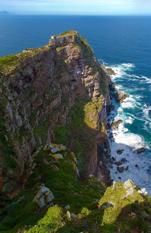 Cape Point, South Africa. Where the Indian and Atlantic ocean meet.