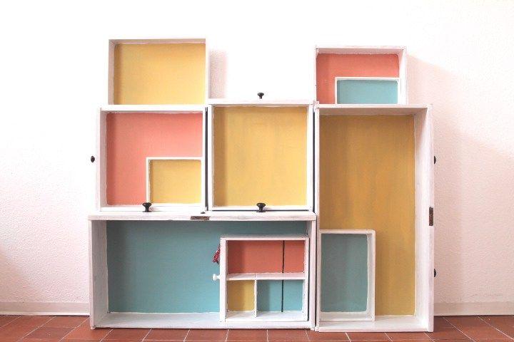 Schubladenregal und Tafelfarbe (8)