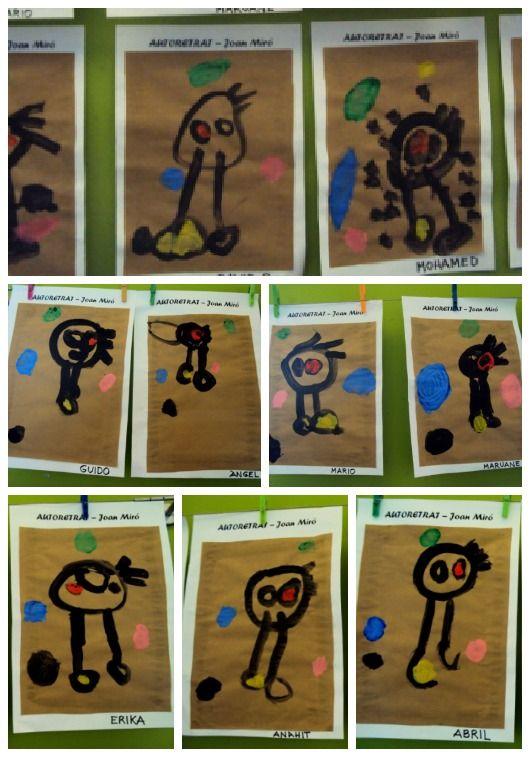Joan Miró amb els més petits.