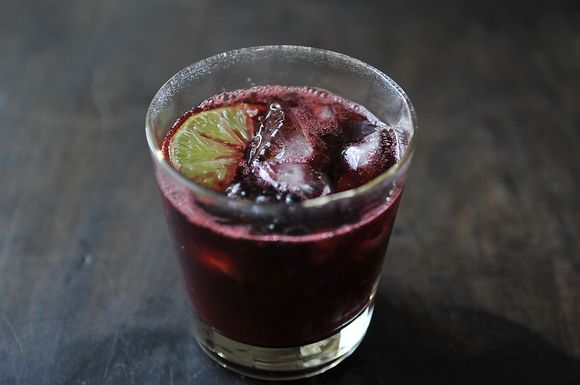 Blackberry Caipirinha -- it's like summer in a glass!