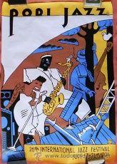 CARTEL DEL PORI JAZZ FESTIVAL AÑO 1991 - 70 X 100 - ILUSTRACIÓN DE EVER MEULEN - ARTE MÚSICA DISEÑO