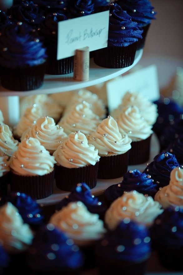 Purple peanut butter cupcakes at our wedding. Made by Victoria Ngo (London, Ontario). haileycarnegie