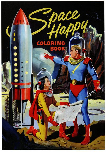 Space Happy Colouring Book