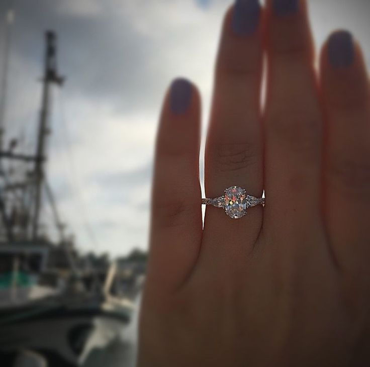 Beautiful 14k white gold engagement rings at Diamonds by Raymond Lee. This Gabriel and Co engagement ring is a 3 stone setting made in white gold with 0.58 carats of accent diamonds.
