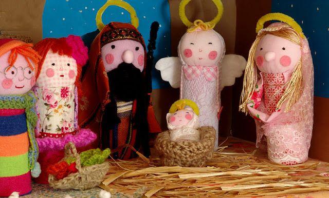 Figuritas de navidad hechas con rollos de papel higienico - Manualidades con rollos de papel higienico para navidad ...