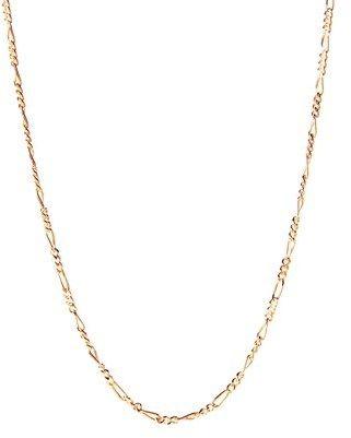 "Barzel 24"""" 18k Gold Ptd Sterling Silver Figaro Chain Necklace."