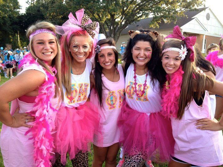 Pretty In Pink Bid Day Outfits Alpha Gamma Delta