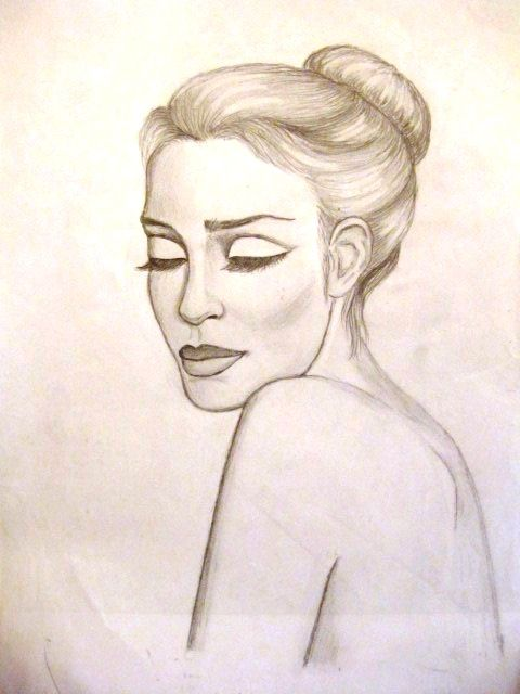 Sorrow, pencil, portrait