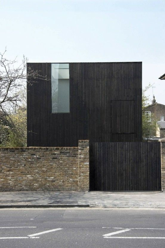#black #exterior #mimimalist - outside finish with corten? - courtyard eave finish?