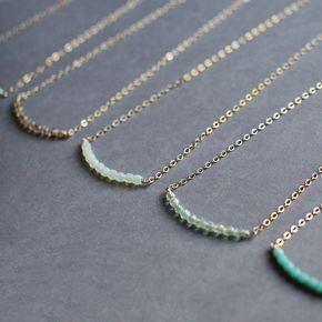amicizia e gioielli perline delicato delle collane oro e