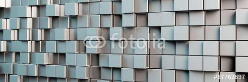 Panorama Hintergrund aus grauen Würfeln