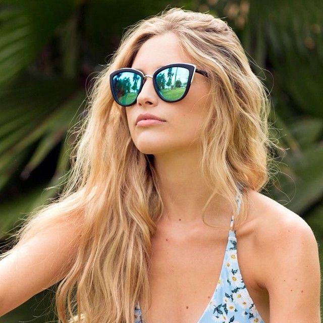 Quay My Girl Black / Blue Sunglasses $47.95