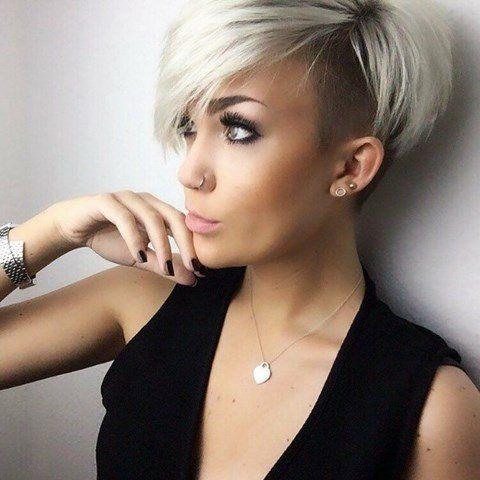 Frauen kurz sidecut Kurze Haare