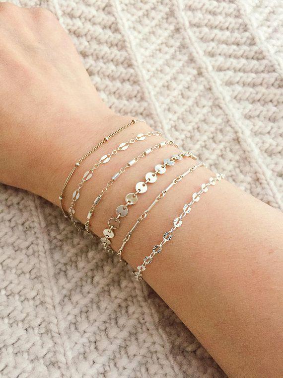 Dainty Silver Bracelet Sterling