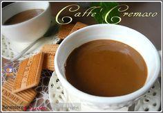 Caffè cremoso, ricetta crema al caffè senza uova, da servire caldo o tiepido, Caffè ristretto. Dessert fine pasto