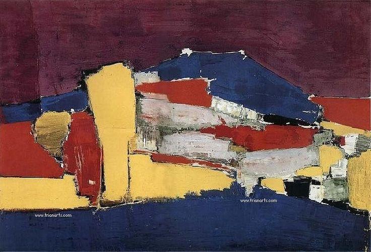 de stael pintor | En 1944, ya de vuelta en París, le organizó una exposición en ...