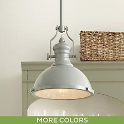 lighting the harriet pendant is crafted of steel and finished in your choice of four low luster enamel finishes canopy pivots so can focus the light over - Farmhouse Light Fixtures