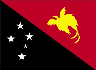 Country Flags: Papua New Guinea Flag