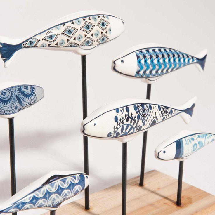beautiful escales ceramic school of fish figurine maisons du monde escale with range cd maison du monde with maison du monde range cd