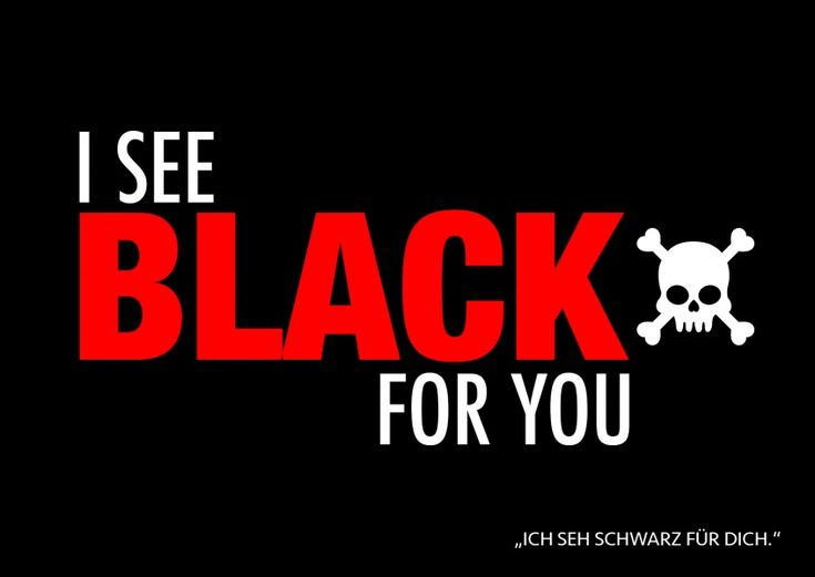 I see black for you | Denglisch | Echte Postkarten online versenden…