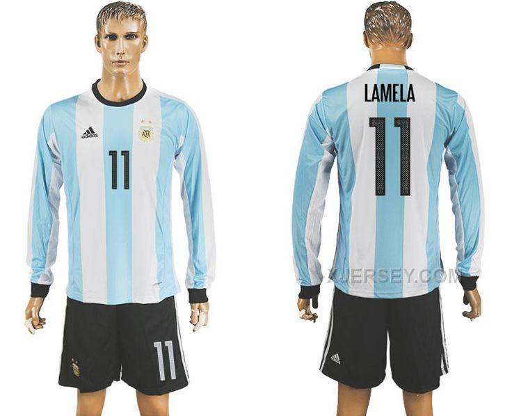 http://www.xjersey.com/argentina-11-lamela-home-2016-copa-america-centenario-long-sleeve-soccer-jersey.html ARGENTINA 11 LAMELA HOME 2016 COPA AMERICA CENTENARIO LONG SLEEVE SOCCER JERSEY Only 33.11€ , Free Shipping!
