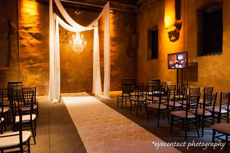 ceremony area, fermenting cellar in the distillery district, toronto, eyecontact photography