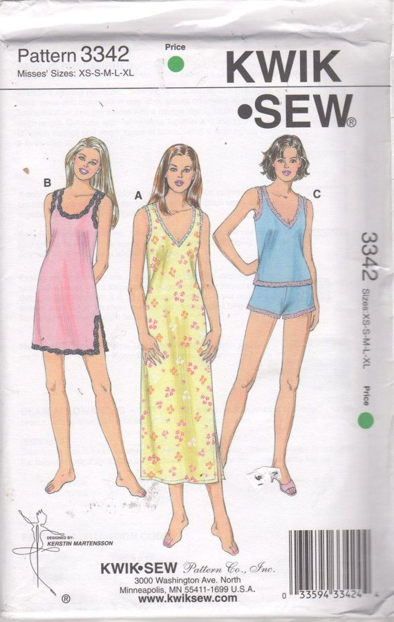 Kwik Sew 3342 Misses Nightgown and Pajamas Pattern V by mbchills