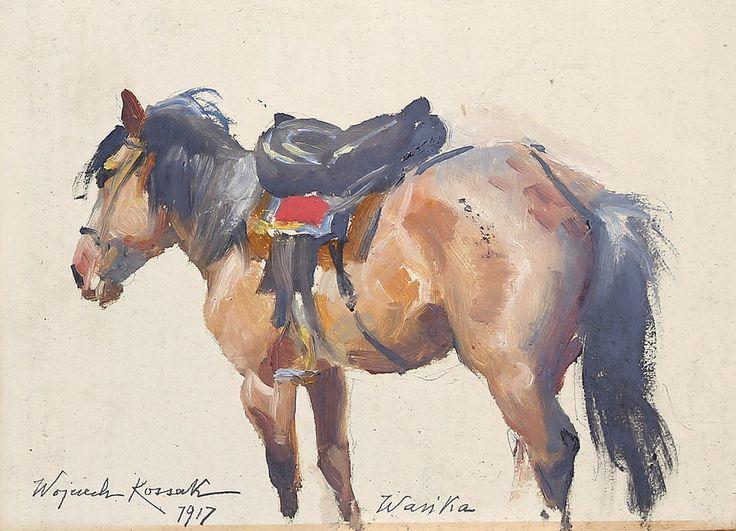 Wojciech KOSSAK (1856-1942) 'Studium konia', 1917