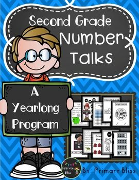 Do you want to implement daily number talks into your second grade classroom but feel overwhelmed at the though of planning a number talk each day?  If so, this is the product for you! This year-long (180 lessons), common core aligned Number Talks Program is specifically designed for second grade and guaranteed to get your students highly engaged in mathematical discourse.  #NumberTalks