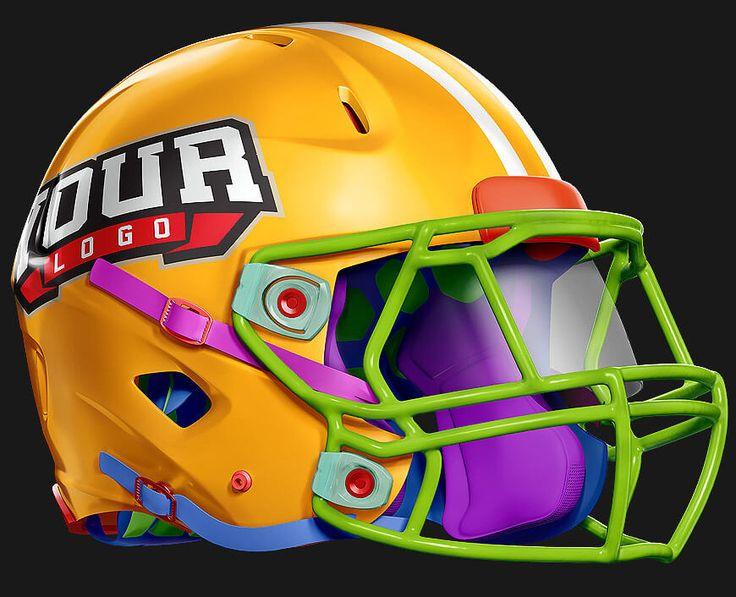 editable custom helmet Riddell 360 Football helmet, Free PSD - hockey templates free