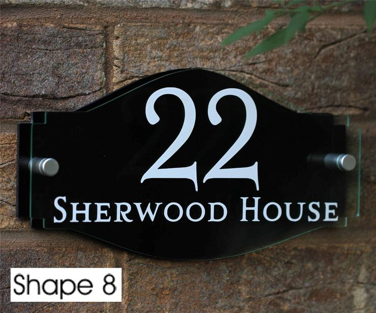 Modern house name plaques