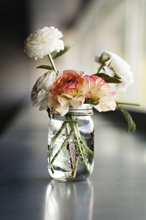 Fresh picks.: Idea, Simple, Wedding, Flower Arrangements, Bloom, Flowers, Mason Jars, Floral, Flower
