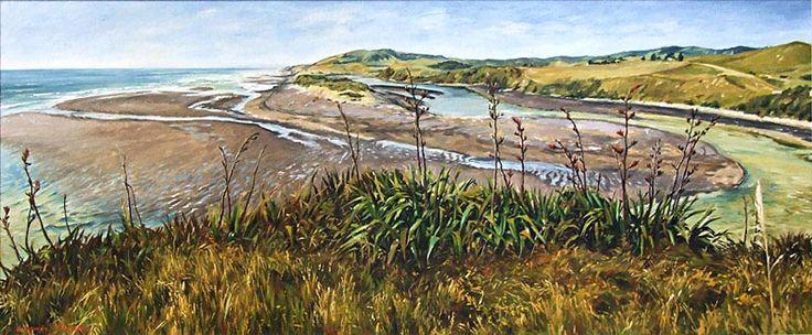 Graham Downs nz landscape oil painter, fine artist. Taranaki coastal.