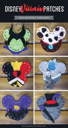 DIY Disney Villain Patches – Designs By Miss Mandee. A unique, affordable, and totally awesome Disney-themed DIY. Use these FREE printable templates to create your very own Disney Villain patches.