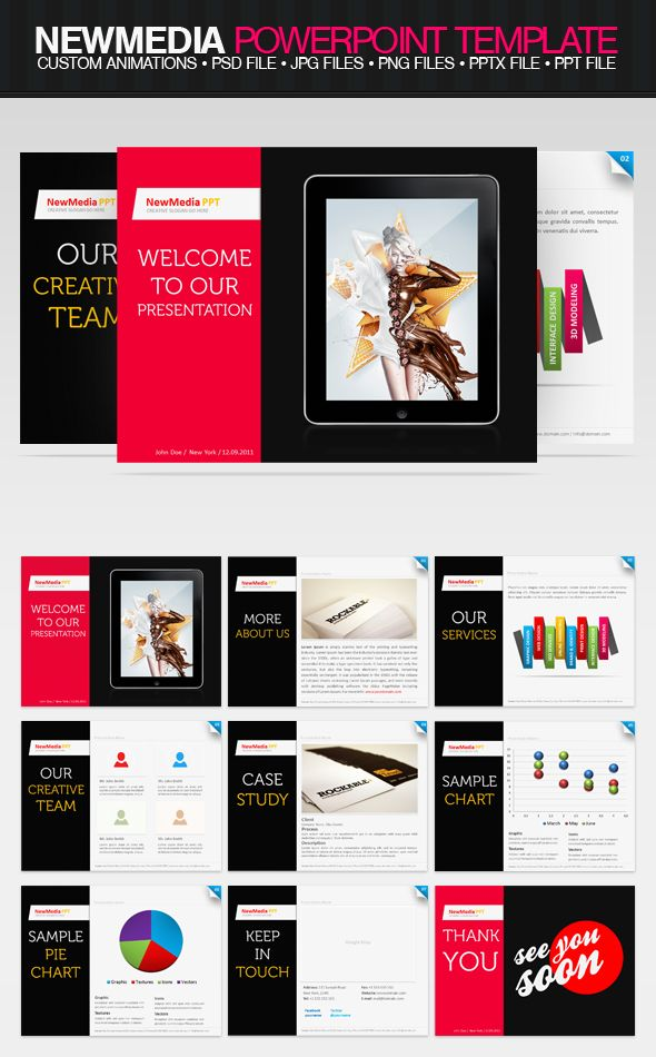 12 best ppt images on pinterest ppt template templates and graphics newmedia ppt template by drawzen on deviantart toneelgroepblik Gallery