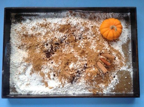 Pumpkin Pie Sensory Tray