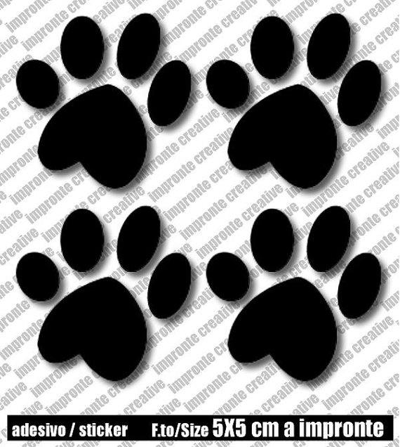STI002  Impronta 008  GATTO  CAT  5x5 cm x 4pz di IMPRONTECREATIVE, €3.99