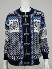 Nordstrikk S Womens sweater blue 100% wool nordic cardigan knit winter Norway