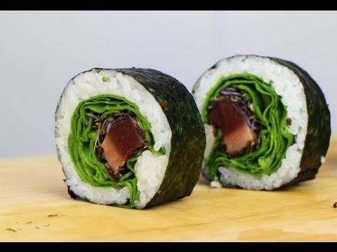 how to make tuna sushi rolls cooked