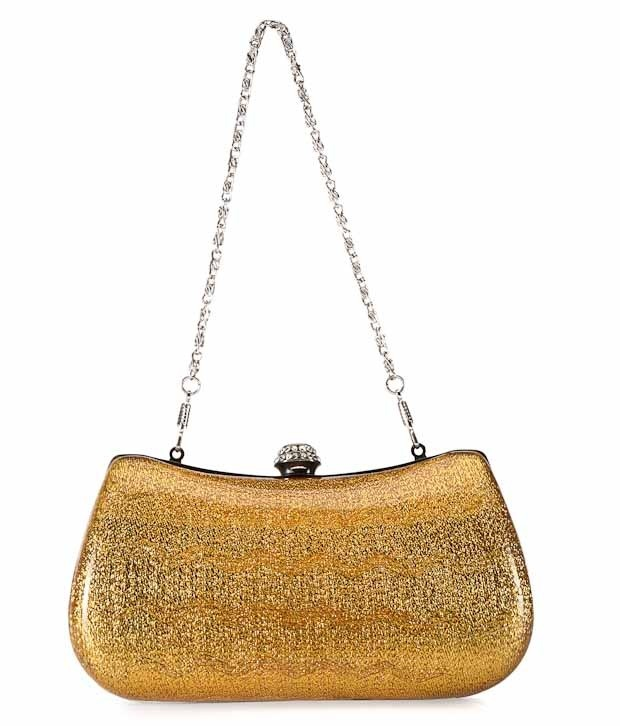 This trendy Mustard Plastic & Metal Party clutch must-have for your accessory collection----http://goo.gl/N4mc8