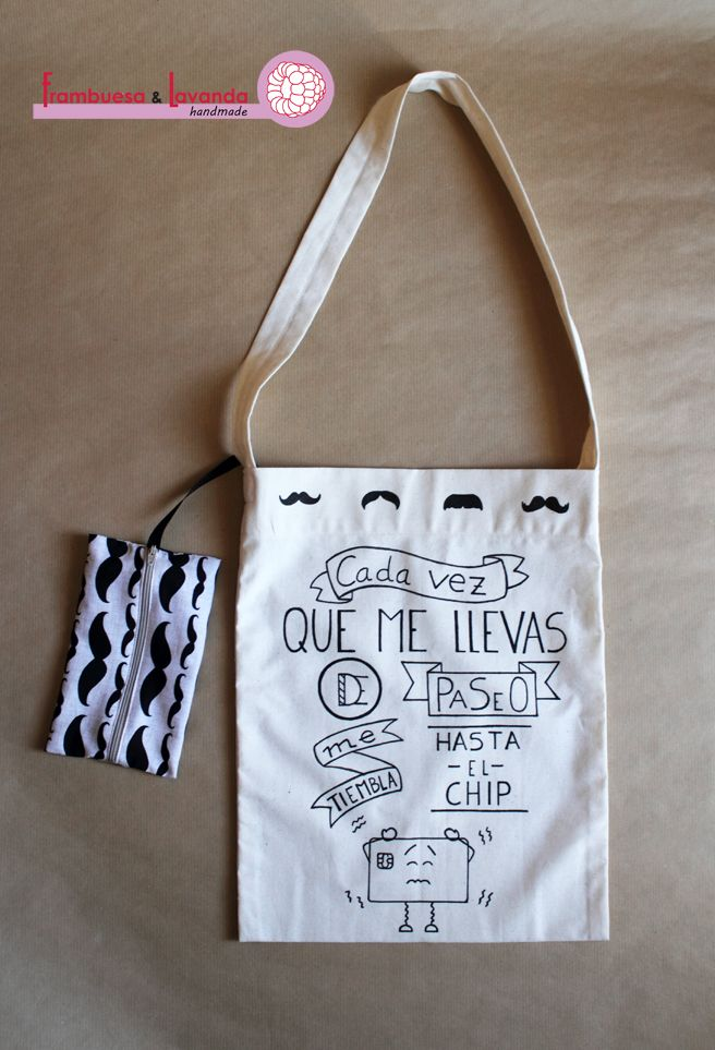 #Bolsa #ilustrada #handmade #ToteBag http://www.frambuesaylavanda.blogspot.com.es/2014/06/llego-el-gran-dia.html