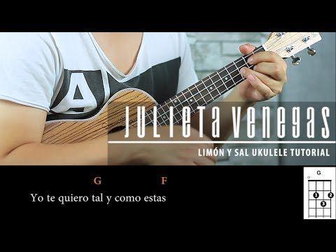 Julieta Venegas Limón Y Sal Ukulele Tutorial Express Play Along Acordes Youtube Ukulele Youtube Venegas
