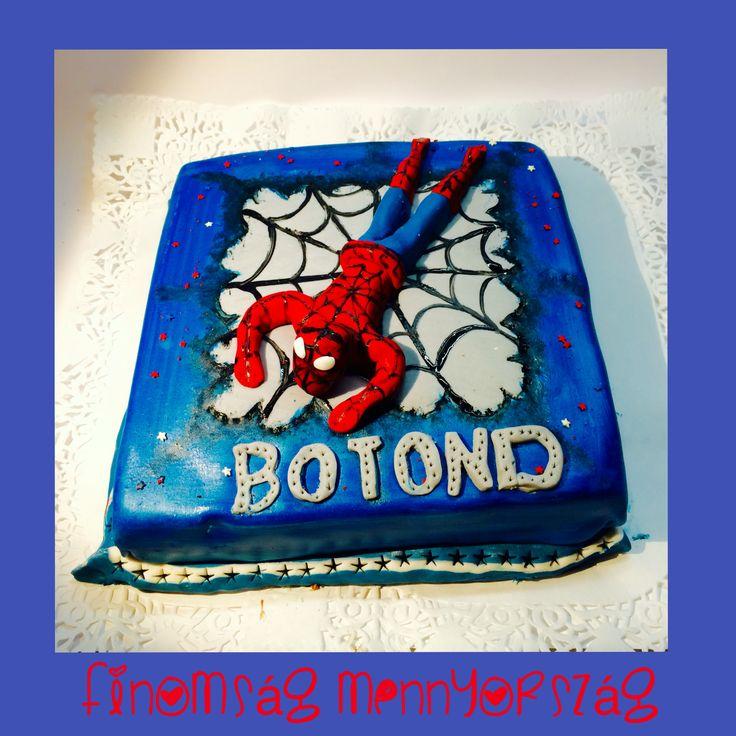 Spiderman torta, főzött holland csokoládé krémmel*