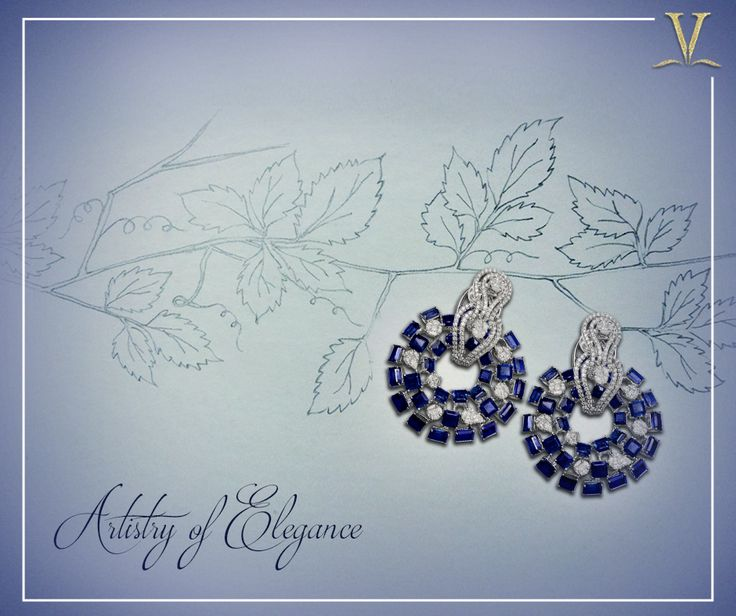 Handcrafted to the last detail, the esoteric sapphire earrings designed exclusively for you. #ArtistryOfElegance